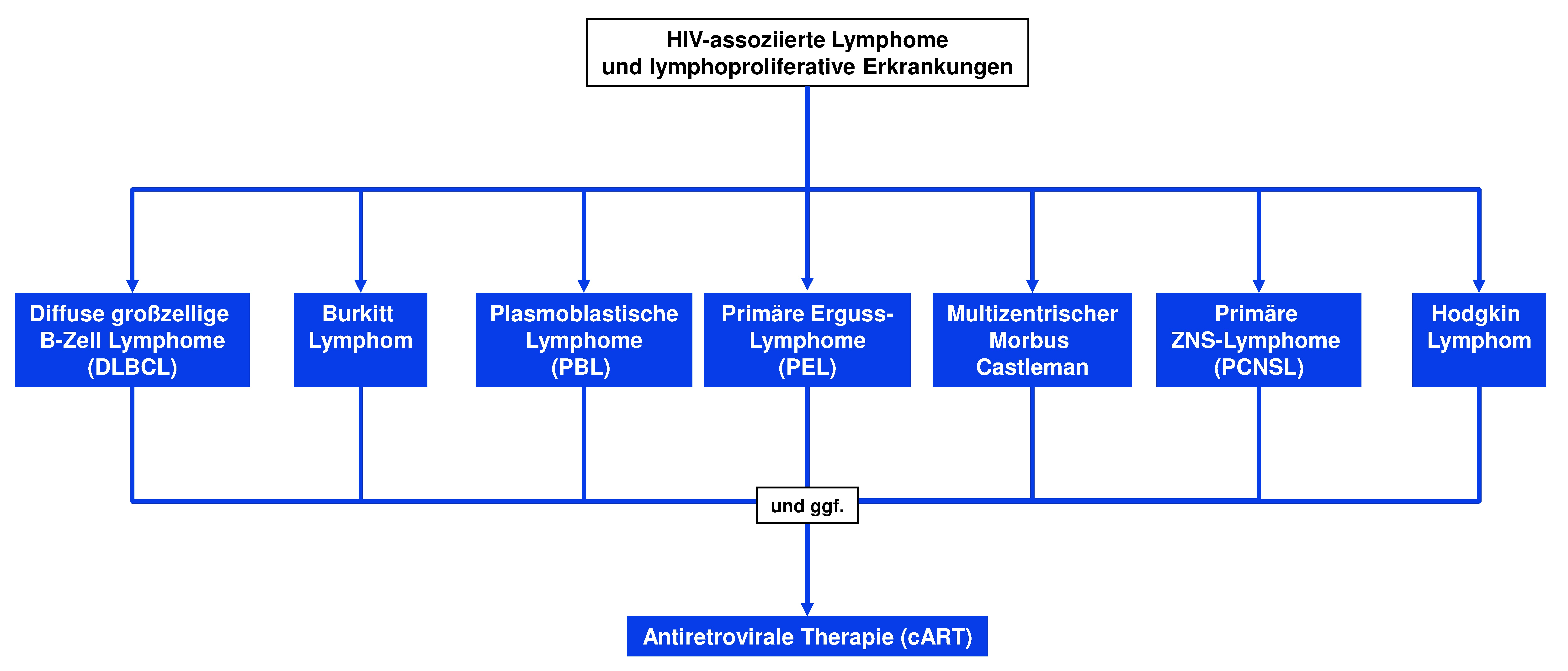 Therapie HIV-assoziierter Lymphome und lymphoproliferativer Erkrankungen