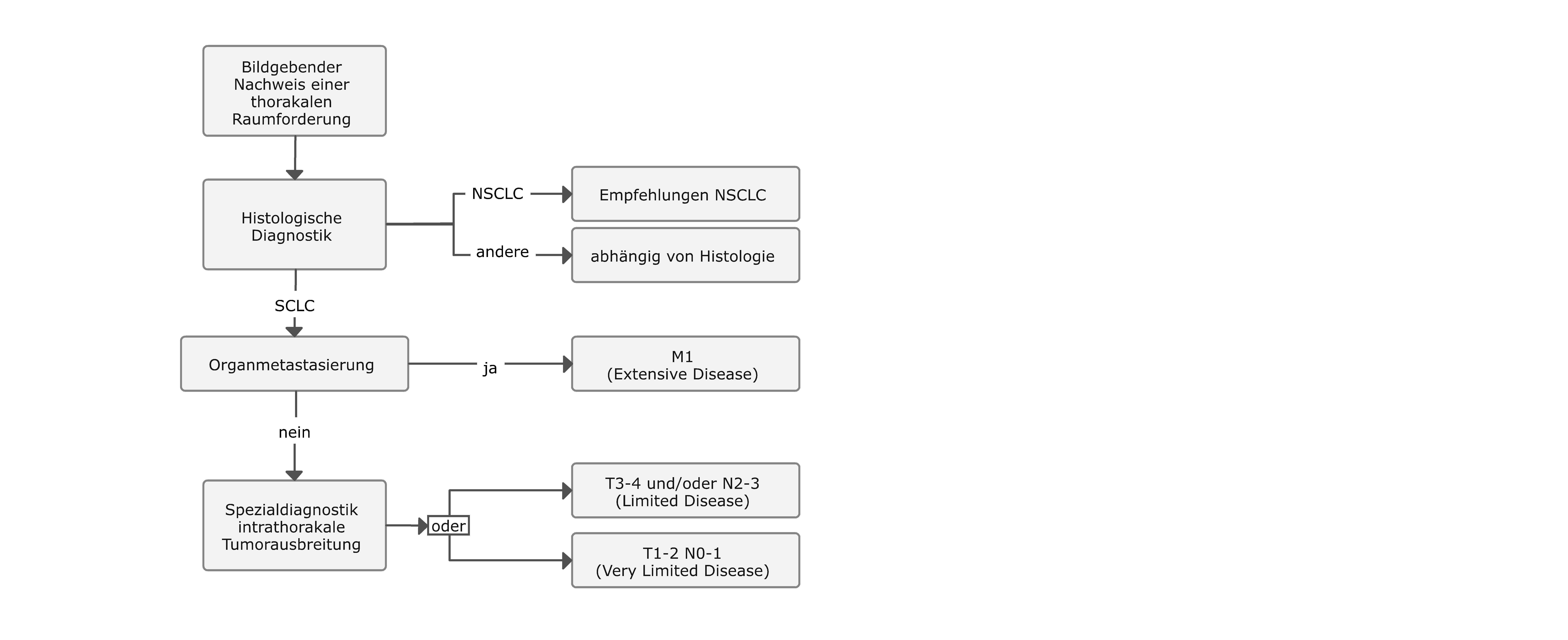 Diagnostischer Algorithmus bei SCLC