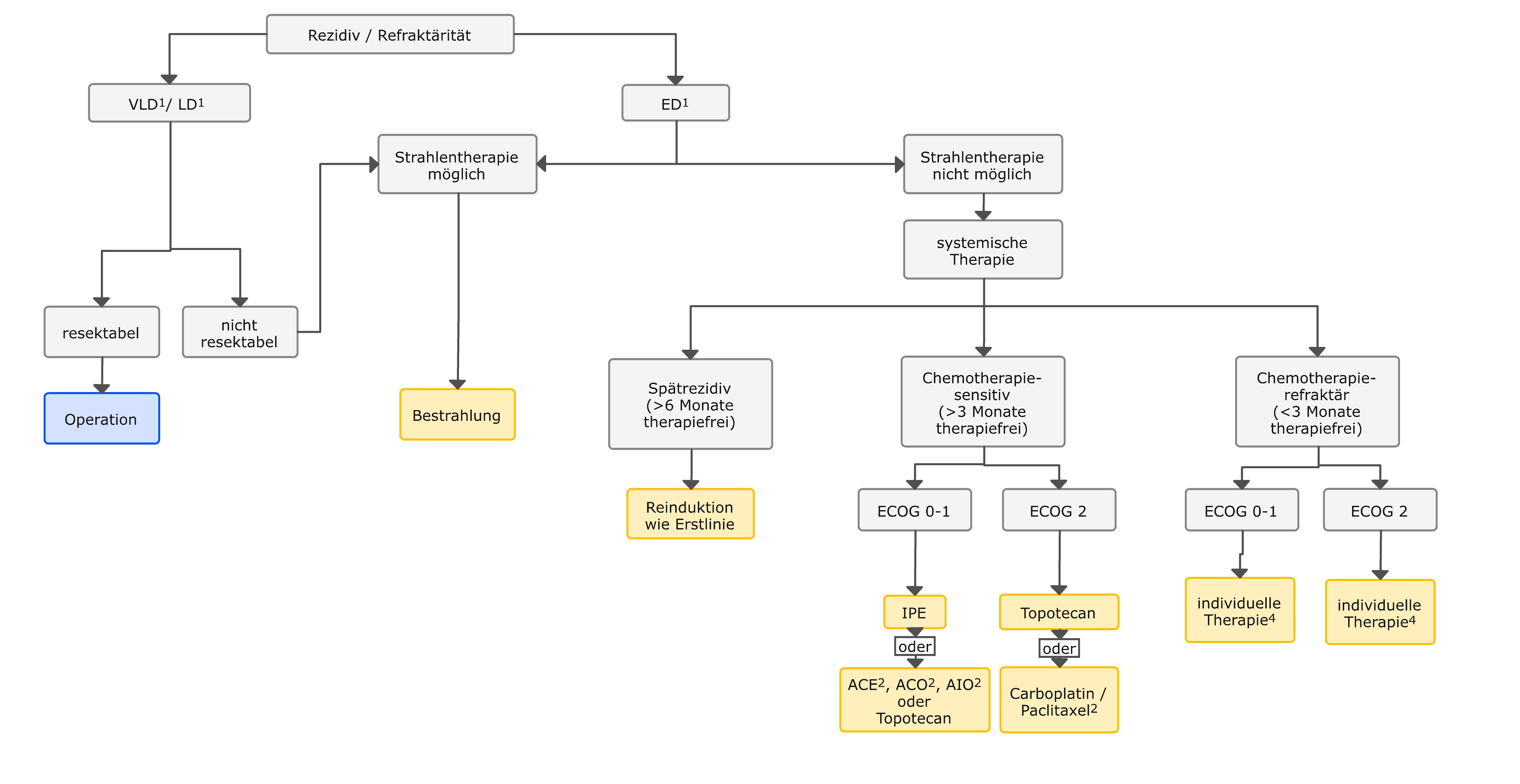 Algorithmus für die Rezidivtherapie des SCLC