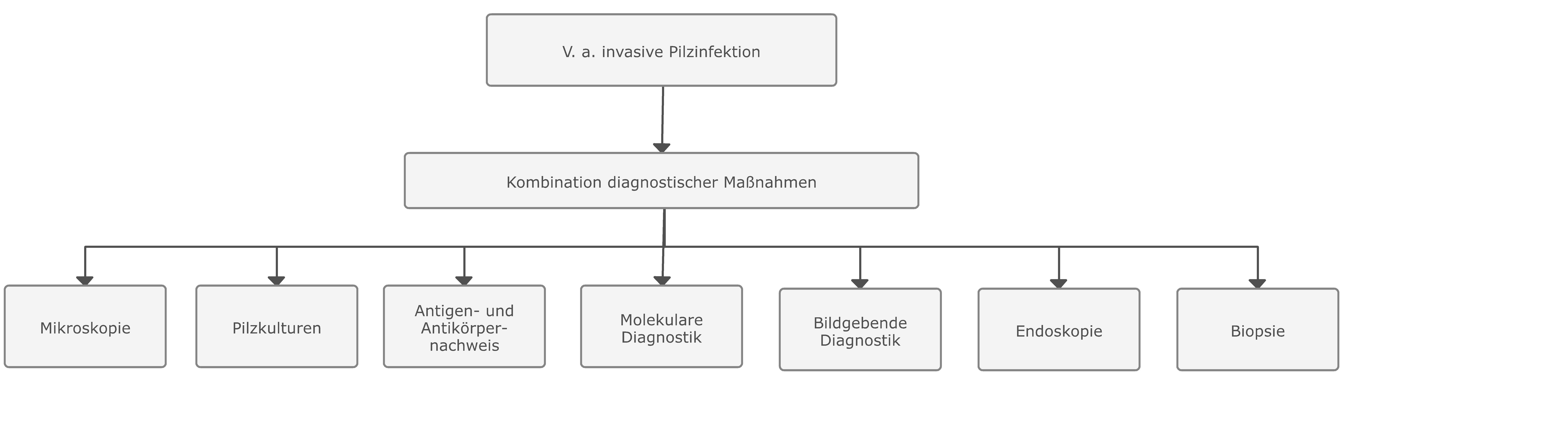 Wichtige allgemeine diagnostische Maßnahmen zum Nachweis  invasiver Pilzinfektionen bei Patienten mit hohem Erkrankungsrisiko